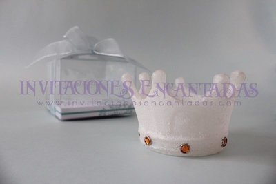 Invitación XV Caja Acetato Vela Corona