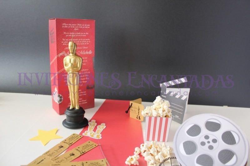 Invitación de XV Caja con Vela Oscar