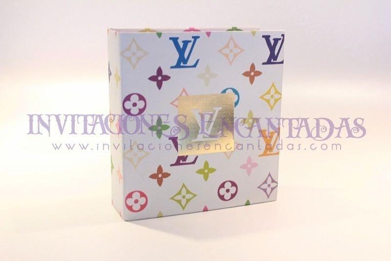 Invitación de XV con Caja Peq Louis Vuitton