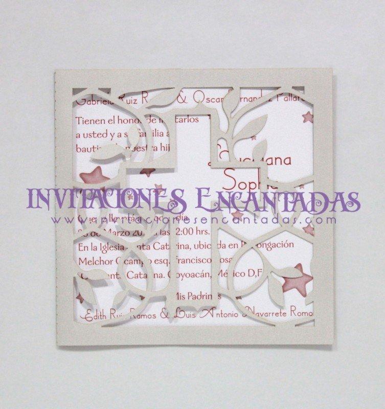Invitación Corte Laser Bautizo 01