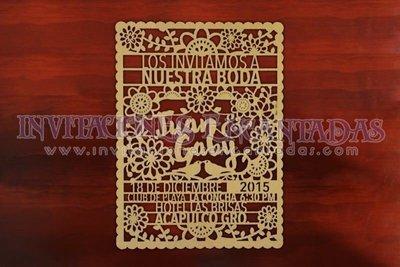 Invitación con Corte Láser Estilo Mexicano 02