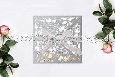 Invitaciones Sobre de Corte Laser FFS-014