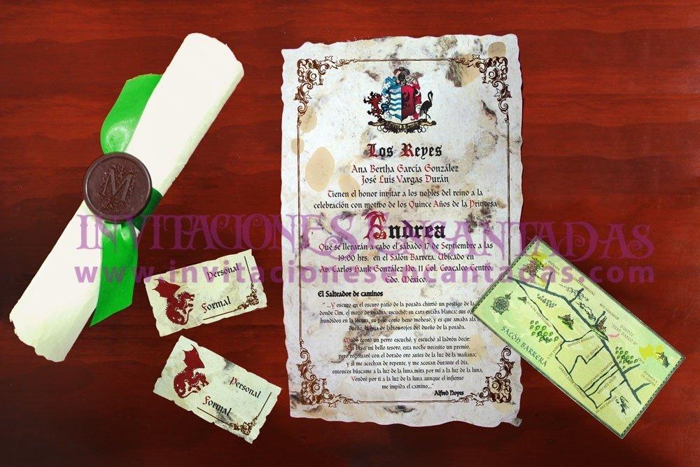 Invitación Medieval 31