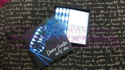 Máscara Veneciana Caja 06 Con invitación Doblez