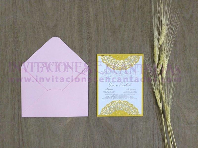 Invitación Simple Laser 08