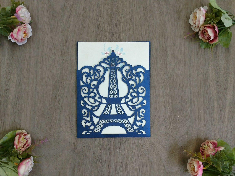 Invitación Corte Laser 07 Torre Eiffel
