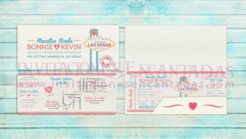 Invitación Ticket con Porta Ticket 07