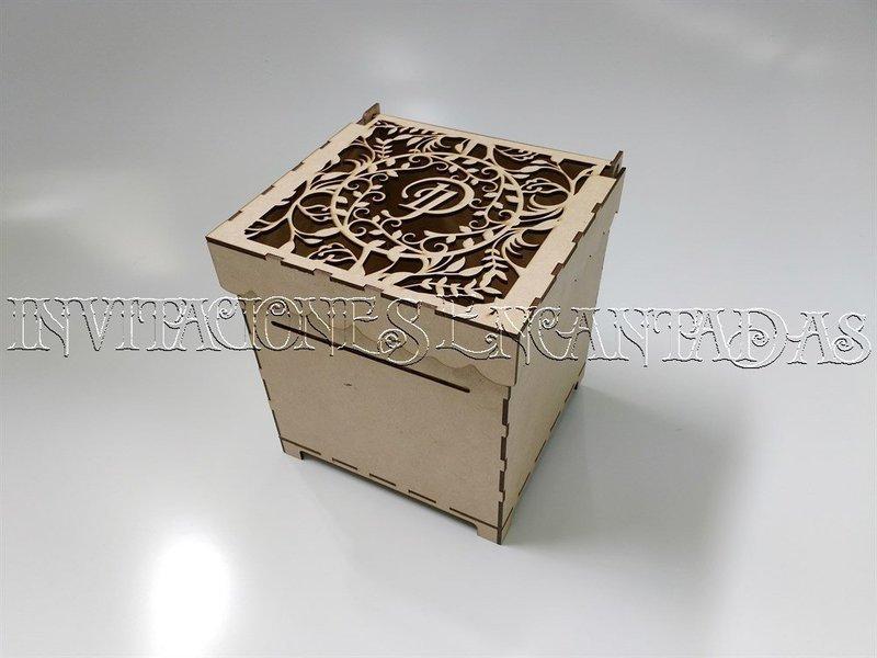 Caja de Dinero MDF + 50 Sobres de Dinero 20x20x20cms 01