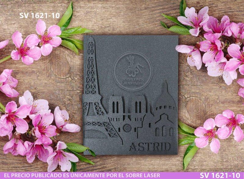 DIY Sobre de Corte Laser SV 1621-10 Torre Eiffel