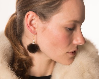 Earrings - Mink - Gold Wire
