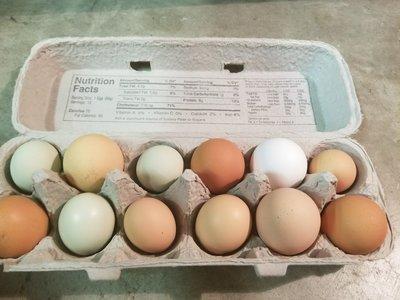 12 Farm Fresh Eggs