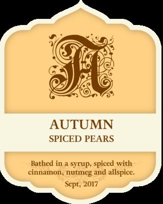 Autumn Spiced Pears