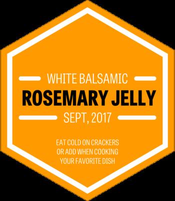 White Balsamic Rosemary Jelly