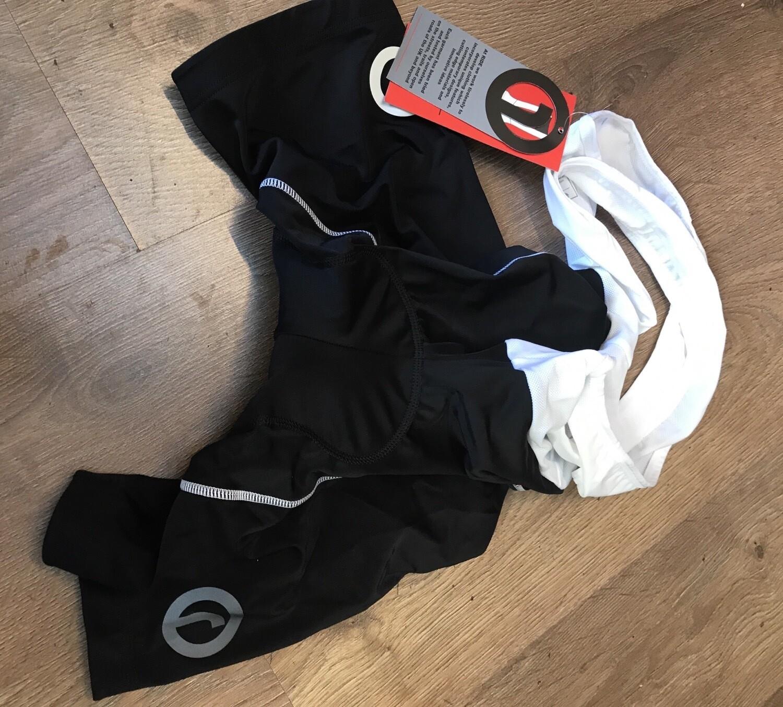 Ride FreFlo Bib Shorts Black/White Size Large