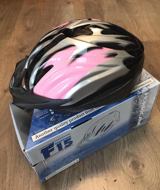 Oxford Helmet F15 58-61cm Large Pink/Silver