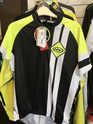 NWSS Beware Of Cyclist SS Jersy Blk-White-YellowFlo M