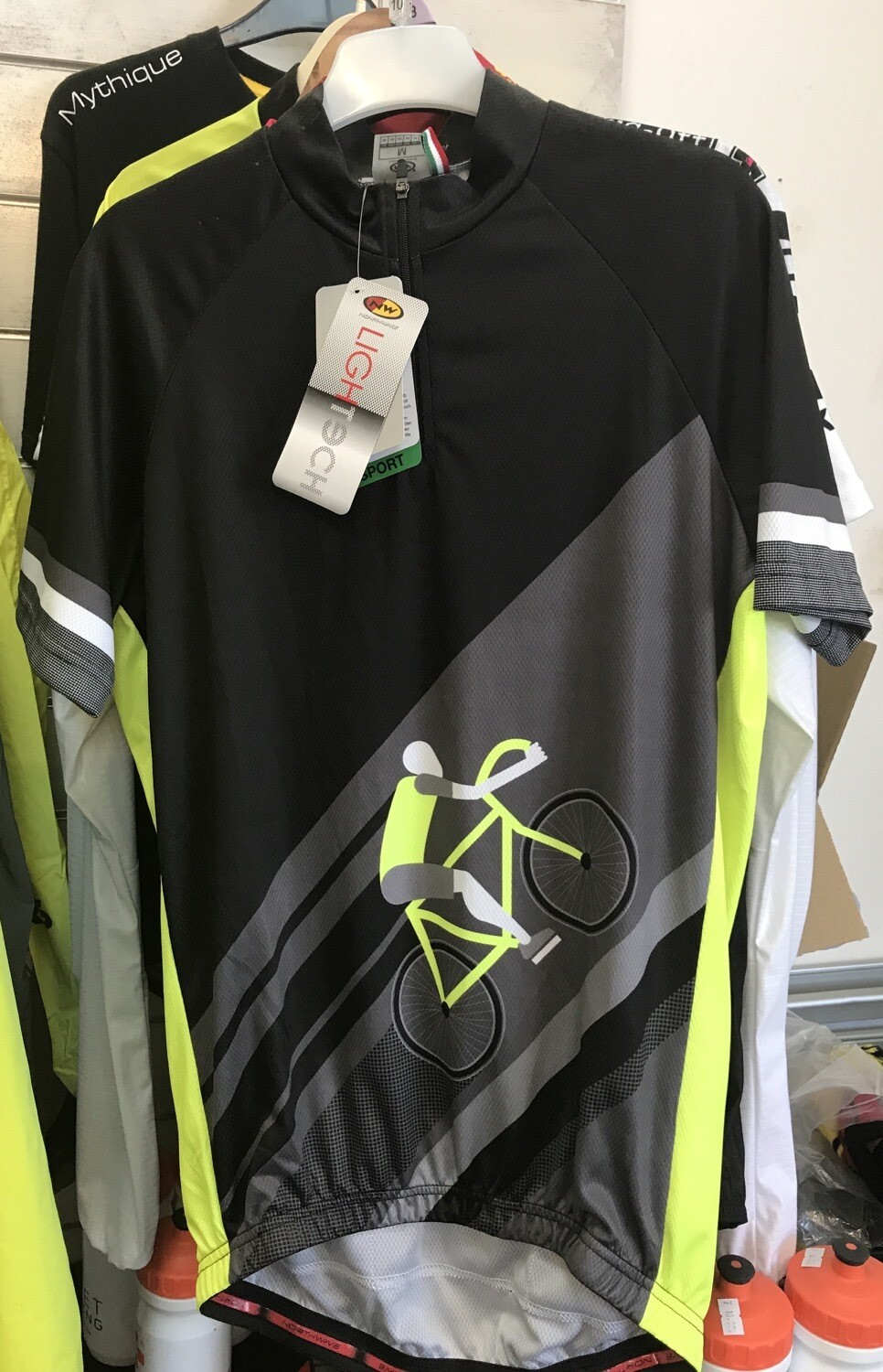 NWSS15 Share The Road SS Jersey Blk-YellowFluo M