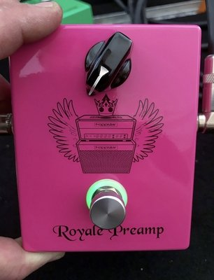 """""""Limited Edition"""" PINK Foppstar Royale Preamp Pedal (Discontinued)"""