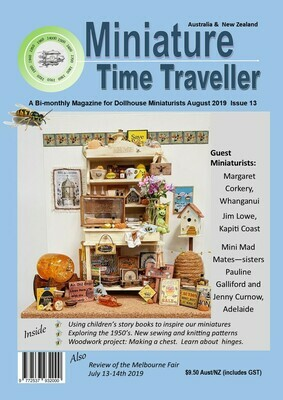 August 2019 - Issue 13.  Miniature Time Traveller Magazine - Single copy only. Postage extra
