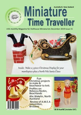 December 2019 Miniature Time Traveller Magazine - Single copy. P&P extra.