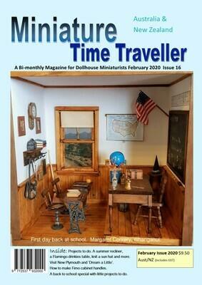 February 2020 Miniature Time Traveller Magazine - Single copy. P&P extra.