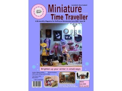 APRIL 2020 Miniature Time Traveller Magazine - Single copy. P&P extra.