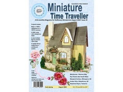AUGUST 2020 Miniature Time Traveller Magazine - Single copy. P&P extra.