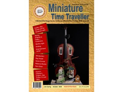 OCTOBER 2020 Miniature Time Traveller Magazine - Issue 20 - Single copy. P&P extra.