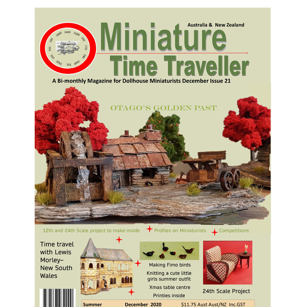 DECEMBER 2020 Miniature Time Traveller Magazine - Issue 21 - Single copy. P&P extra.