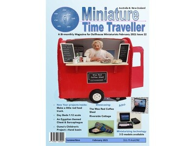 FEBRUARY 2021 Miniature Time Traveller Magazine - Issue 22 - Single copy. P&P extra.
