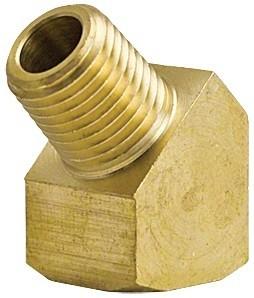 45 Degree Brass Elbow Street - 1/8