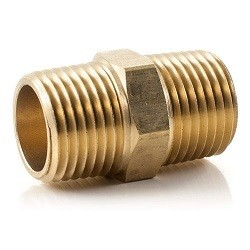 Brass Nipple Hexagon - 1/8