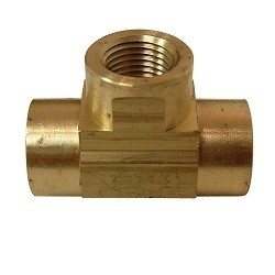 Brass TEE Female NPT - 1/8