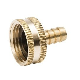 "Female Garden Hose Connector - Barb (3/4"" x 3/8"")"