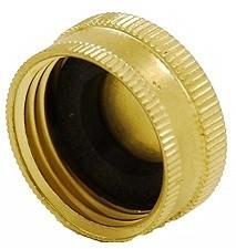 Brass Garden Hose Cap - 3/4