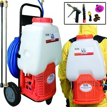 Battery Backpack Sprayer with Cart - Fogger Alternative