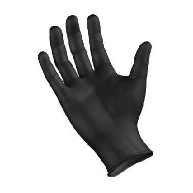 Black Nitrile Gloves 5.0 Mil - Size XL