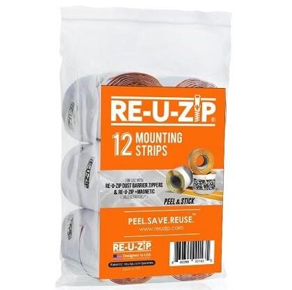 RE-U-Zip Mounting Strip 12-Pack