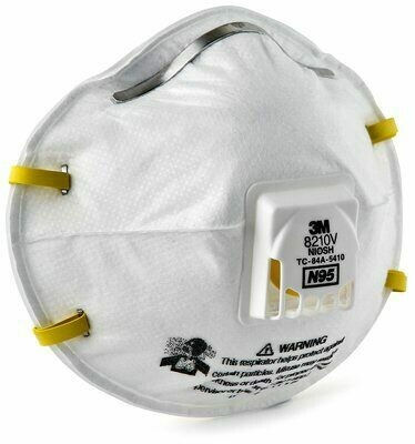 8210V N95 Medium Respirator by 3M - (10 Pack)