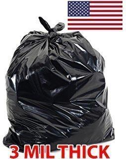 3-Mil Black Flap Tie Contractor Bags 42gl - (32ct)