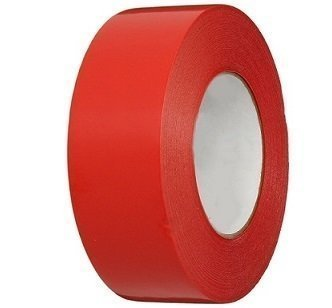 "3"" x 60 yds. Red Gaffers Vinyl Tape Pinked Edges by Polyprep"