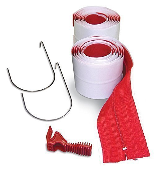 Heavy Duty Zippers by Zipwall - 2 Pack with Knife