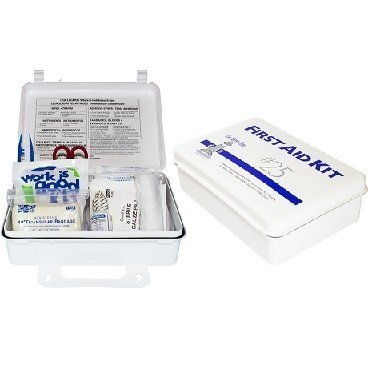 25 Man First Aid Kit with Eye Wash Case