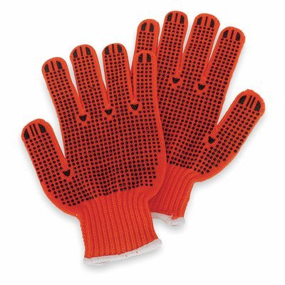 Orange Knit-Acrylic Material Gloves with High Visibility - XL