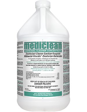 Mediclean Germicidal Cleaner Concentrate (QGC) Lemon Fragrance - GL