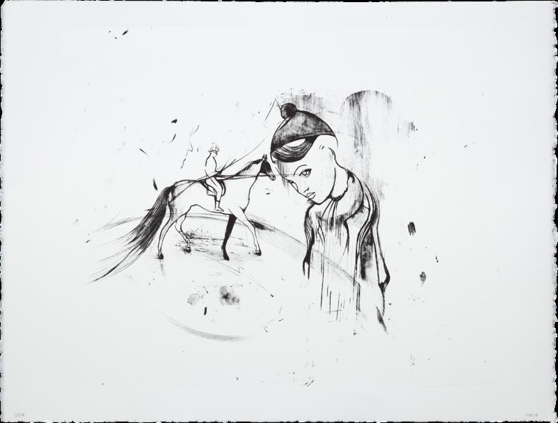 Trickster (Horse) - Lithograph