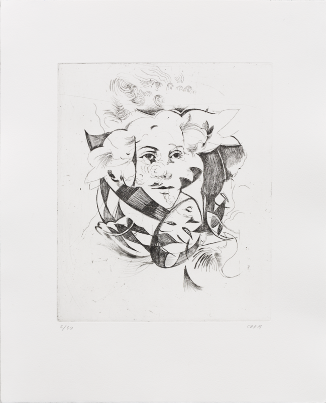 Hellequin (Portrait) - Etching