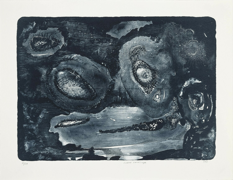 Lunar Landscape (I) - Lithograph