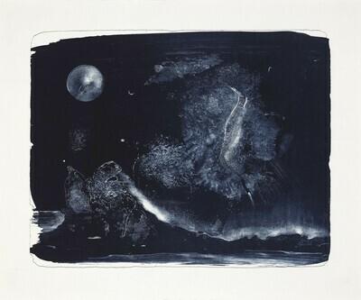 Lunar Landscape (II) - Lithograph