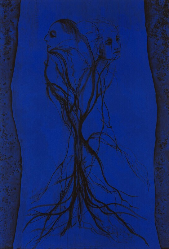 Mater Tree (Blue) - Lithograph